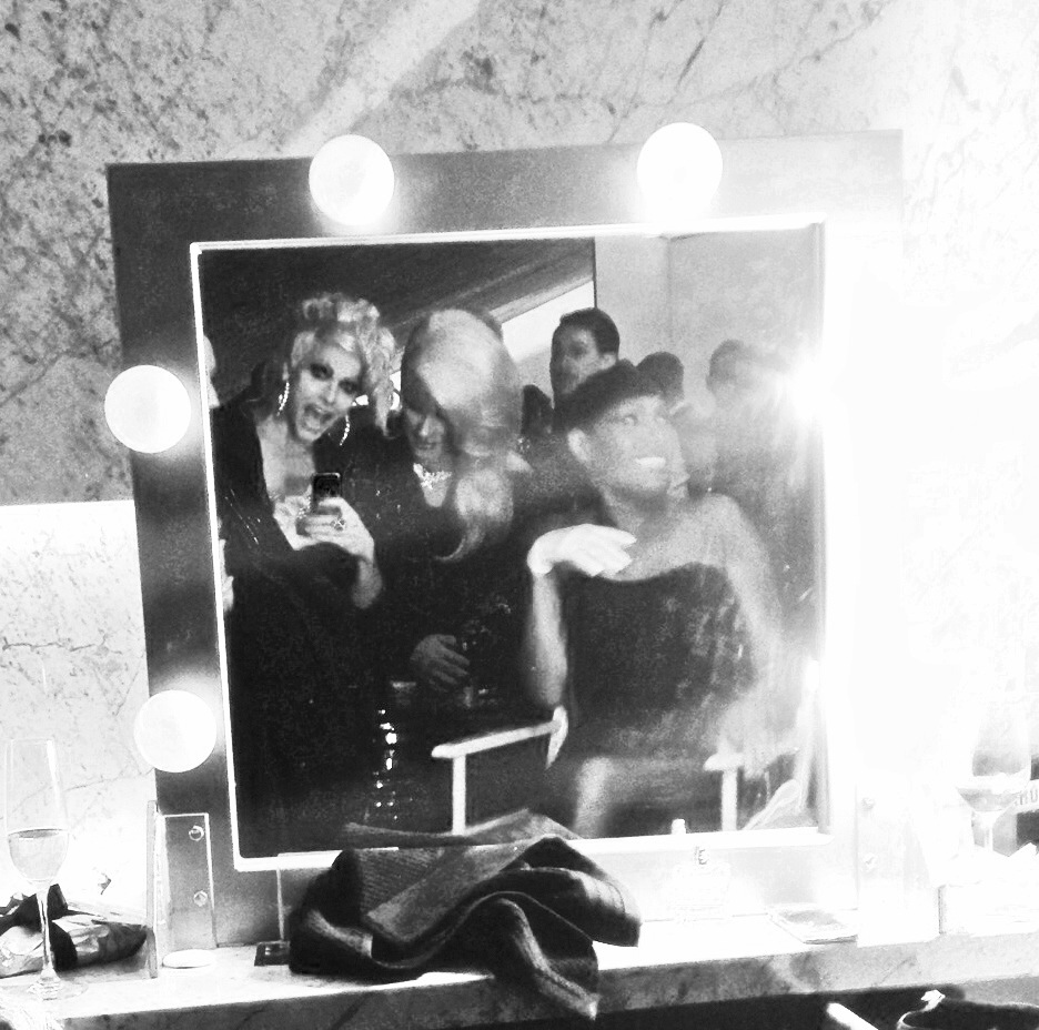 Courtney, Jodie and Grace backstage after the show