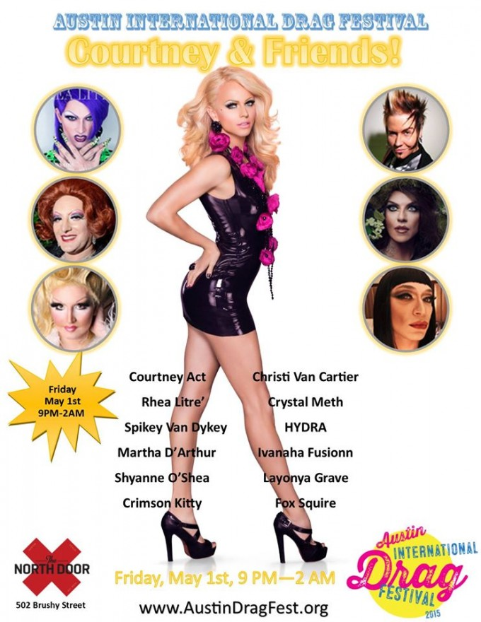 Courtney Act to Headline at the Austin International Drag Festival